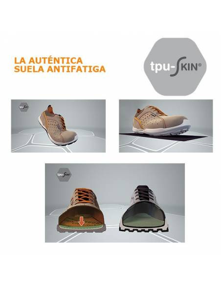 Suela antifatiga AirTech + tpu-Skin Base PRotection