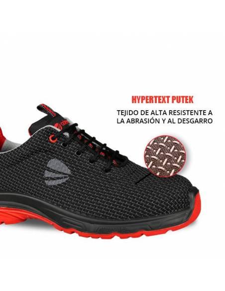 Zapato de seguridad altamente resistente a la abrasión y al desgarro.