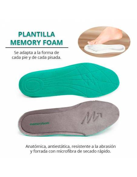 Plantilla memory foam súper comoda, se adapta a cada pie y a cada pisada.