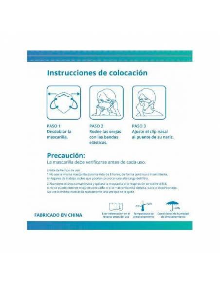 Mascarilla KN95 protección Covid-19 - Instrucciones colocación