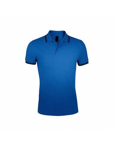 Polo transpirable manga corta con bolsillo tejido cooldry azulina