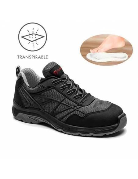 Zapatos de seguridad Cronos Black transpirables Adeepi