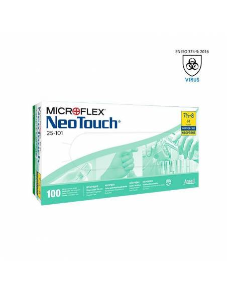 Caja Guantes Desechables protección virus Covid-19 Ansell NeoTouch 25-101
