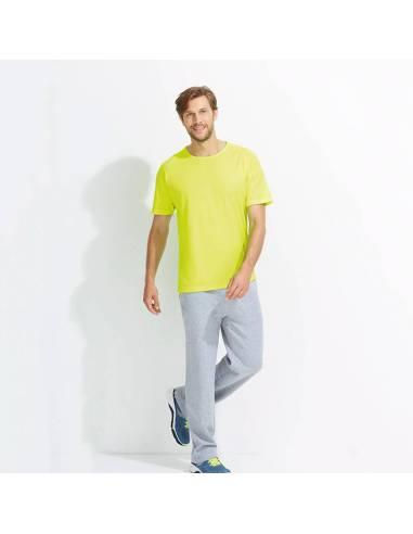 Camiseta deportiva tejido técnico hombre manga corta