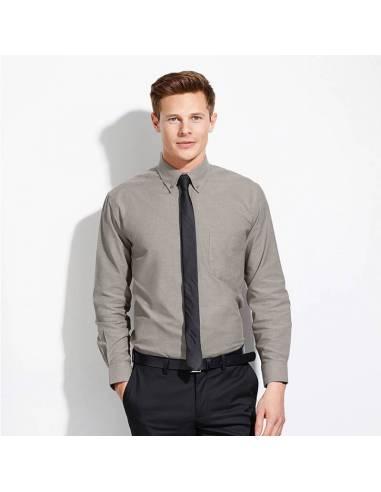 Camisa de algodón Oxford Manga Larga Hombre