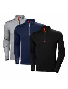 Camiseta interior térmica Helly Hansen Lifa Merino Half Zip 75107 cuello con cremallera